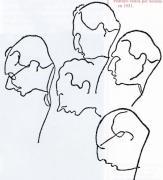 Caricaturas de intelectuais galeguistas