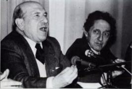 Carvalho Calero con Isaac Díaz Pardo
