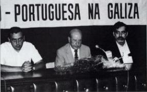 Carvalho Calero con Manuel María e López Suevos